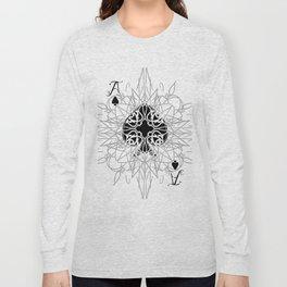 Tribal Mandala Watermark Ace of Spades Long Sleeve T-shirt