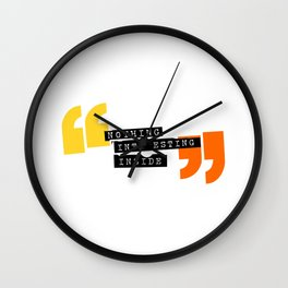 Nothing interesting inside Wall Clock
