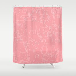 Global warming and animal migration 02 Shower Curtain
