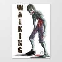 walking dead Canvas Prints featuring Walking Dead by FulgenSHOW Art