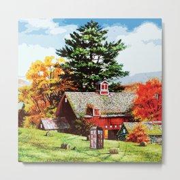 Tardis Farms Time Autumn Metal Print