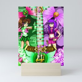 Sailor Mew Guitar #40 - Sailor Jupiter & Mew Zakuro Mini Art Print