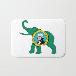 Washington Republican Elephant Flag Bath Mat