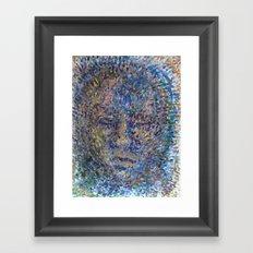 The Face of Man Framed Art Print