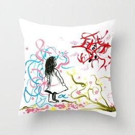 devil & a. Throw Pillow