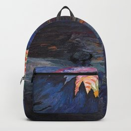 Mountain Sunrise after Fishing nautical landscape painting by Marianne von Werefkin Backpack