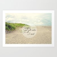 salt water Art Prints featuring sunshine and salt water by Sylvia Cook Photography