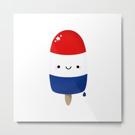 Patriotic Popsicle Metal Print