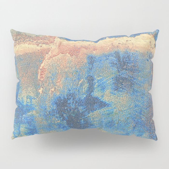 Rusted Metal Plates Abstract Pillow Sham