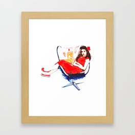 Bobby Girl Retro Vintage Pin Up Girl Framed Art Print