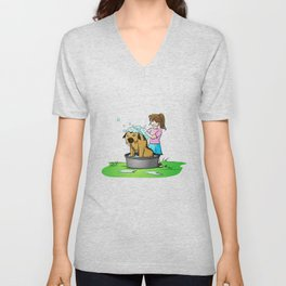 bath day Unisex V-Neck