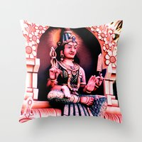 hindu Throw Pillows featuring Hindu 1 by very giorgious