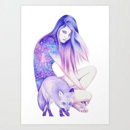 Galaxy Wanderer Art Print