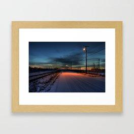 Raildusk Framed Art Print