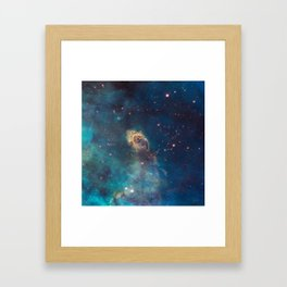 Space Nebula, A View of Astronomy, Stars, Galaxy, and Outer space  Framed Art Print