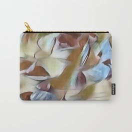 Heavenly Rose Petals Abstract - Taupe Carry-All Pouch