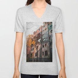 Hundertwasser 4 Unisex V-Neck