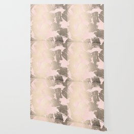 Modern Pink + Gold Wallpaper