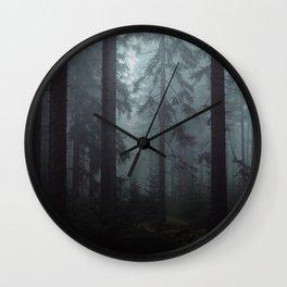 Dark Wood Wall Clock