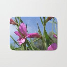Pink Flowers - Field Gladiolus Bath Mat
