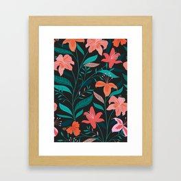 Flame Flowers Framed Art Print