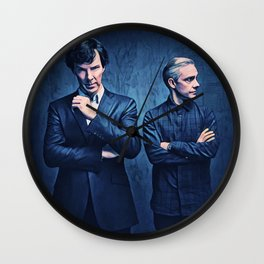 Sherlock and John Wall Clock