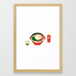 Bibimbap Framed Art Print