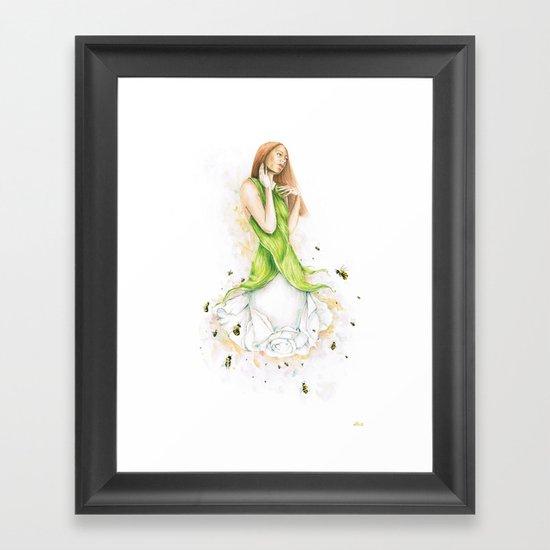 Petite fleur / Little Flower Framed Art Print