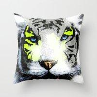 tigger Throw Pillows featuring Tigger by yumifuji