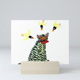 Korean traditional tiger painting by yoonhyehe Mini Art Print