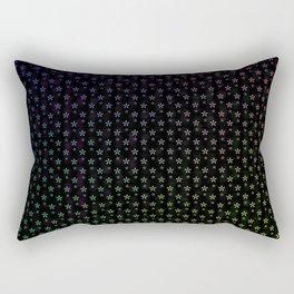 Ombre stars on black background Rectangular Pillow