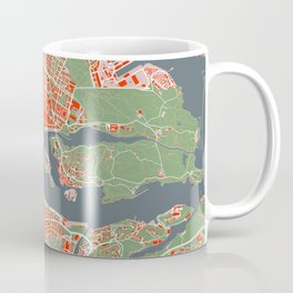 Stockholm city map classic Coffee Mug