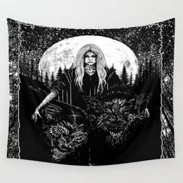 Queen of the Hellhounds Wall Tapestry