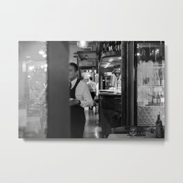A bartender in Venice - street photography Metal Print