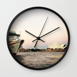 The Quay before dusk Wall Clock