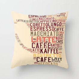 many types of coffee Throw Pillow