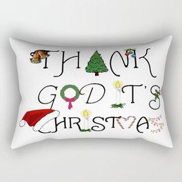 Thank God It's Christmas Consumer Irony Vector Rectangular Pillow