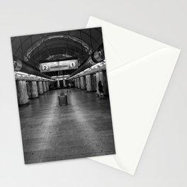empty metro subway station Stationery Cards