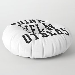 Drinks Well With Others Floor Pillow