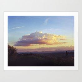 Tuscan Cloud Art Print