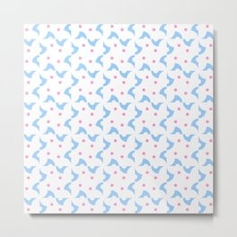 Optical pattern 132 blue and pink Metal Print