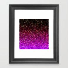 Pink Glitter Sparkle Gradient Framed Art Print