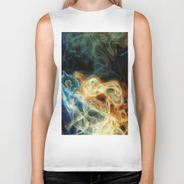 Smoke background Biker Tank