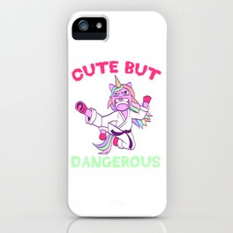 "A Nice Karate Shirt For Martial Arts Fans Saying ""Cute But Dangerous"" T-shirt Design Hands iPhone Case"