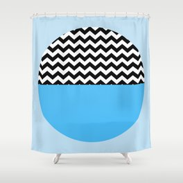 Moiety Blue Shower Curtain