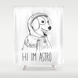 Hi I'm Astro - Killmama Shower Curtain