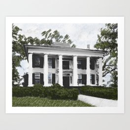 Dodd House - Georgia Plantation  Art Print