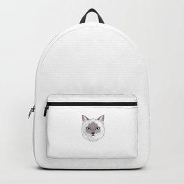 Birman Cat Mom Fur Life Kitty Pun Backpack