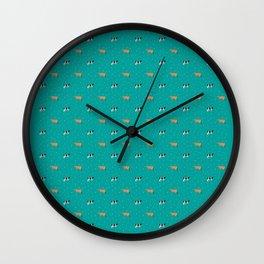 Jerseys & Holsteins // Teal Wall Clock