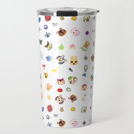 animal crossing pattern Travel Mug